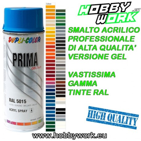 DUPLI VERNICE SPRAY 400ML SMALTO GEL PROFESSIONALE ACRILICO PRIMA TINTE RAL