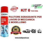 WURTH SGRASSANTE PULITORE FRENI BRAKE CLEANER SPRAY 500ML 6 PEZZI