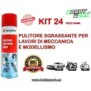WURTH SGRASSANTE PULITORE FRENI BRAKE CLEANER SPRAY 500ML 24 PEZZI
