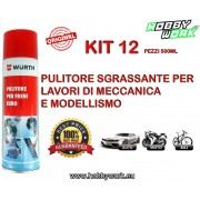 WURTH SGRASSANTE PULITORE FRENI BRAKE CLEANER SPRAY 500ML 12 PEZZI