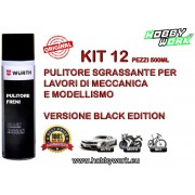WURTH PULITORE FRENI BRAKE CLEANER SPRAY 500ML BLACK EDITION 12 PEZZI