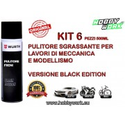 WURTH PULITORE FRENI BRAKE CLEANER SPRAY 500ML BLACK EDITION 6 PEZZI