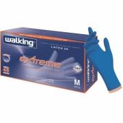 WALKING GUANTI IN LATTICE MONOUSO ALTISSIMO SPESSORE BLU 50 PEZZI EXTREME SENZA POLVERE